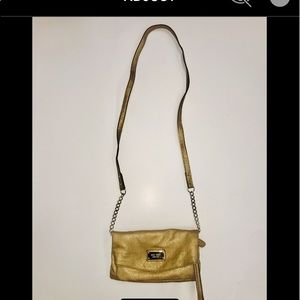 Nine West Gold Crossbody Bag